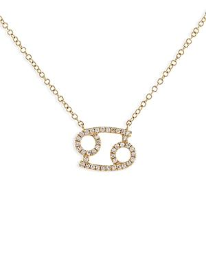 Adinas Jewels Pave Cancer Pendant Necklace, 16-18