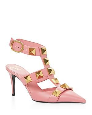 Valentino Garavani Women's Pointed Toe Pyramid Studded High Heel Pumps