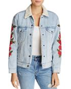 Levi's Ex-boyfriend Trucker Denim Jacket With Embroidery
