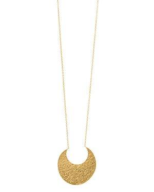 Gorjana Rae Textured Crescent Pendant Slider Necklace, 34