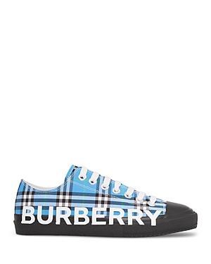 Burberry Women's Logo Print Check Cotton Sneakers