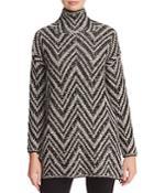 Eileen Fisher Chevron Tunic Sweater