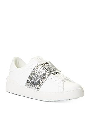 Valentino Women's Studded Glitter Sneakers