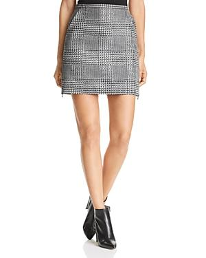 Emporio Armani Rhinestone Studded Glen Plaid Mini Skirt
