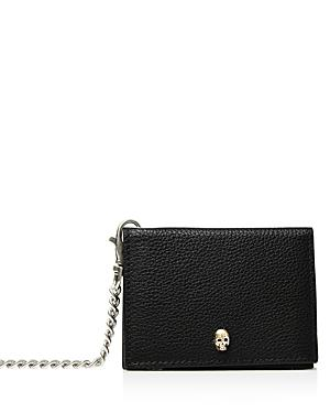 The Kooples Leather Card Case With Chain