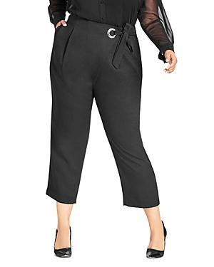 City Chic Plus Twister Wrap Crop Pants