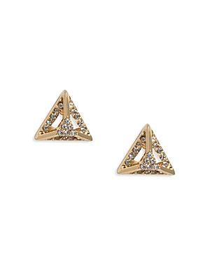 Abs By Allen Schwartz Pyramid Stud Earrings