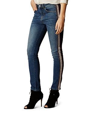 Karen Millen Mid-rise Striped Skinny Jeans
