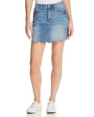 Aqua Scalloped Denim Mini Skirt - 100% Exclusive