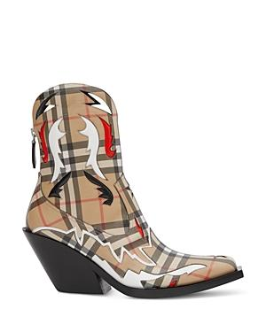 Burberry Women's Vintage Check Cowboy Booties