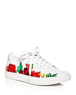 Kenneth Cole Kam Embroidered Lace Up Sneakers