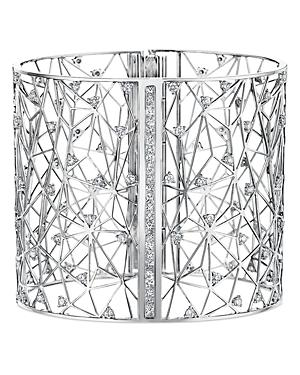 Hueb 18k White Gold Estelar Diamond Openwork Wide Statement Bracelet