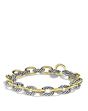 David Yurman Oval Link Bracelet With Gold, 8