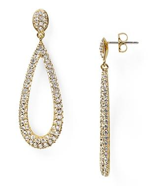 Nadri Open Long Teardrop Earrings