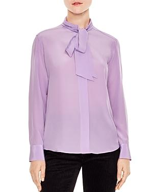 Sandro Eugenia Tie-neck Silk Shirt