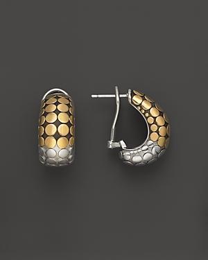 John Hardy Dot 18k Gold And Sterling Silver Buddha Belly Earrings