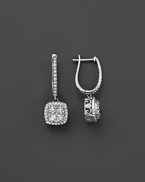 Diamond Drop Earrings In 14k White Gold, 1.25 Ct. T.w.