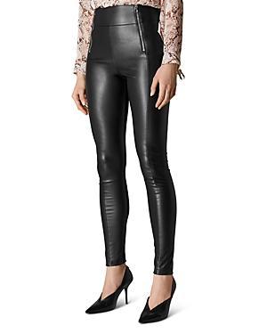 Karen Millen Faux Leather & Ponte Leggings