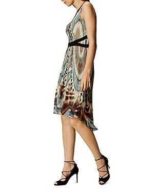 Karen Millen Printed Pleat Dress