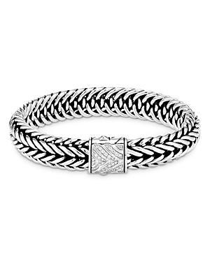John Hardy Sterling Silver Classic Chain Kami Diamond Small Chain Link Bracelet