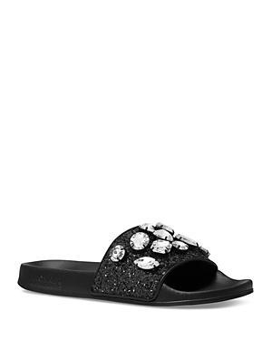 Michael Michael Kors Women's Gilmore Embellished Slide Sandals