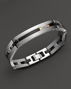Dolan Bullock Stainless Steel And 18k Gold Bracelet With Diamonds