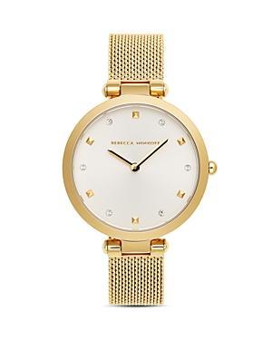 Rebecca Minkoff Nina Gold-tone Mesh Bracelet Watch, 33mm