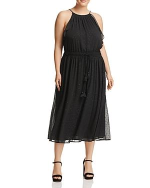Michael Michael Kors Plus Double Tassel Halter Dress