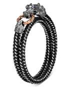 John Hardy Black Rhodium Silver & Bronze Legends Naga Men's Dragon Wrap Bracelet