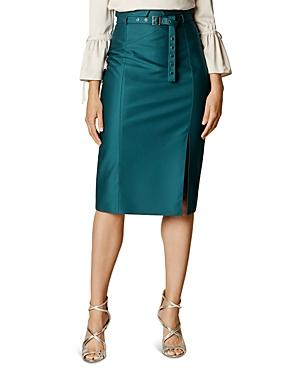 Karen Millen Belted Pencil Skirt