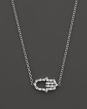 Kc Designs Diamond Hamsa Necklace In 14k White Gold, .07 Ct. T.w.