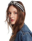 Lele Sadoughi Striped Knot Headband