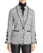 Bagatelle Velvet Trim Tweed Blazer