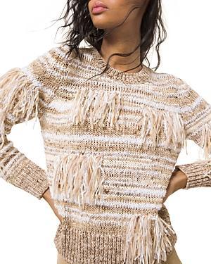 Michael Michael Kors Fringed Marled Sweater
