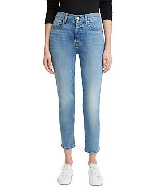 7 For All Mankind Josefina Cropped Skinny Jeans In Formosa