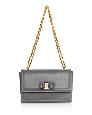 Salvatore Ferragamo Ginny Medium Saffiano Leather Shoulder Bag