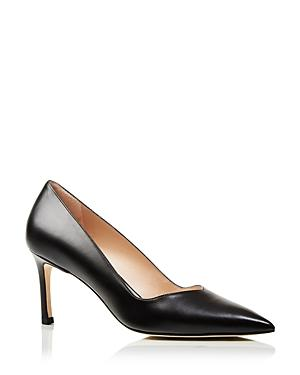 Stuart Weitzman Women's Anny Pointed Toe Mid Heel Pumps
