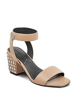 Kendall And Kylie Women's Sophie Studded Leather Block Heel Sandals