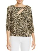 Lna Brushed Phased Leopard-print Sweater