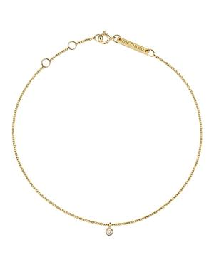 Zoe Chicco 14k Yellow Gold Diamond Charm Anklet