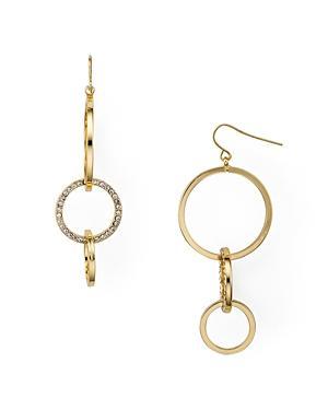 Aqua Interlocked Pave Hoop Earrings - 100% Exclusive