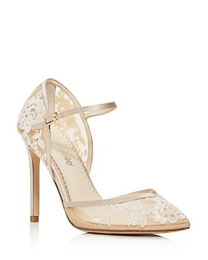Bella Belle Women's Claudia Embroidered Mary-jane Pumps