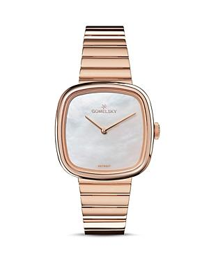Gomelsky The Eppie Rose Gold-tone Watch, 32mm X 32mm