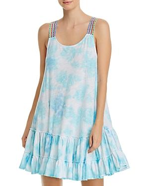 Pitusa Tied-dyed Mini Swim Cover-up