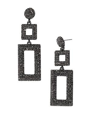 Baublebar Davalyn Pave-encrusted Square & Rectangle Drop Earrings