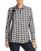 Beachlunchlounge Embroidered Gingham Shirt