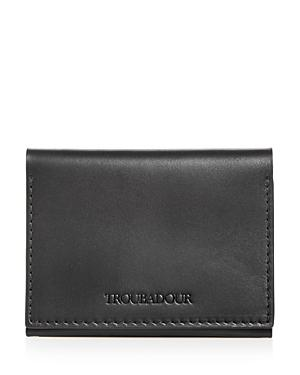 Troubador Leather Flip Card Wallet