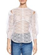 Sandro Ernesta Sheer Lace Top