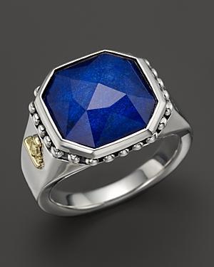 Lagos Lapis Doublet Ring
