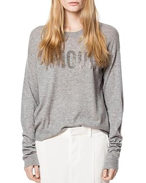Zadig & Voltaire Kansas Cp Embellished Cashmere Sweater